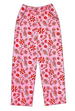 Iscream Peppermint Candy Plush Pants
