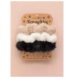 Natural Life Fuzzy Scrunchie