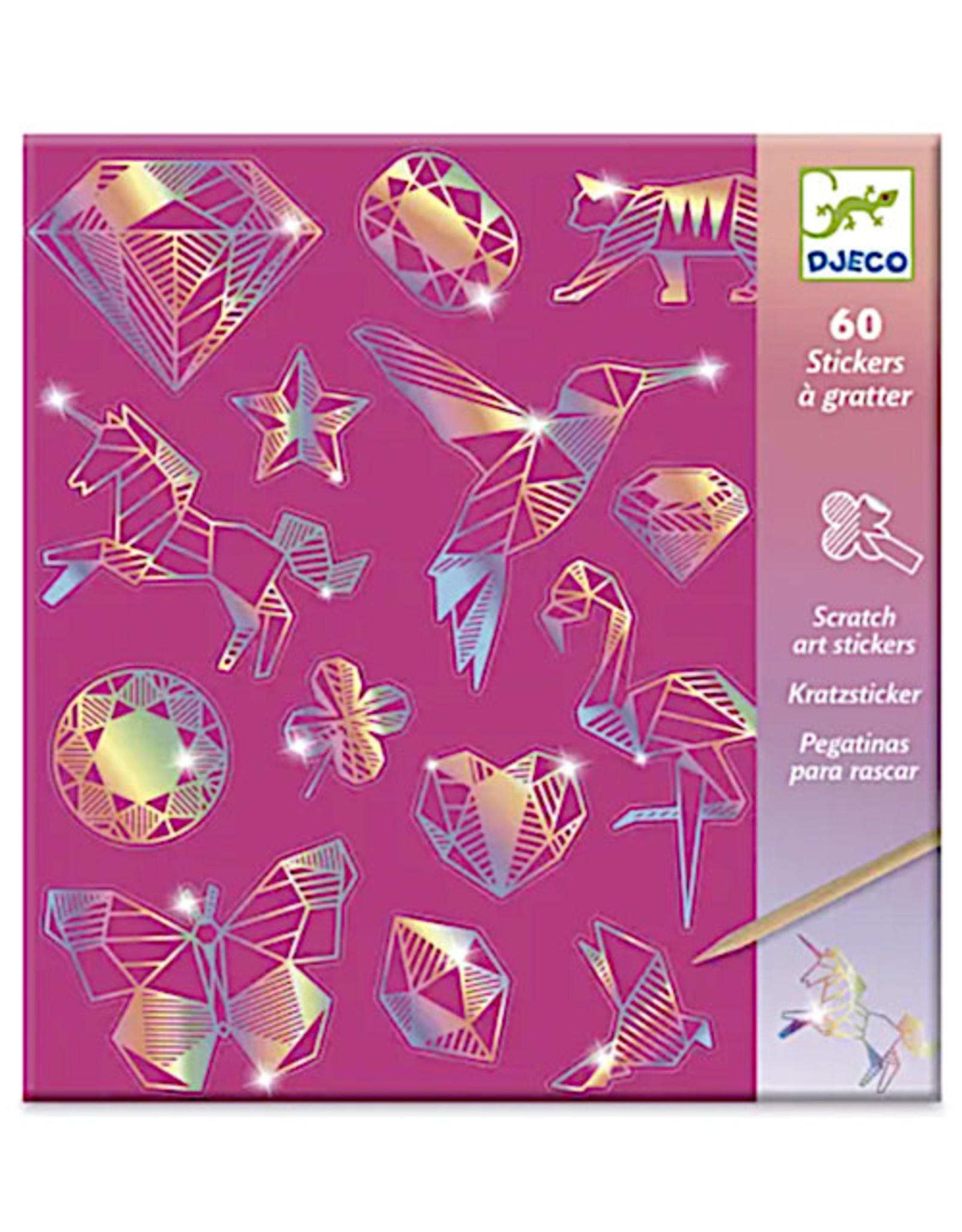 Djeco Diamond Holographic Sticker Scratch Art Activity Set