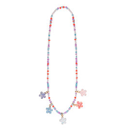 Boutique Shimmer Flower Necklace