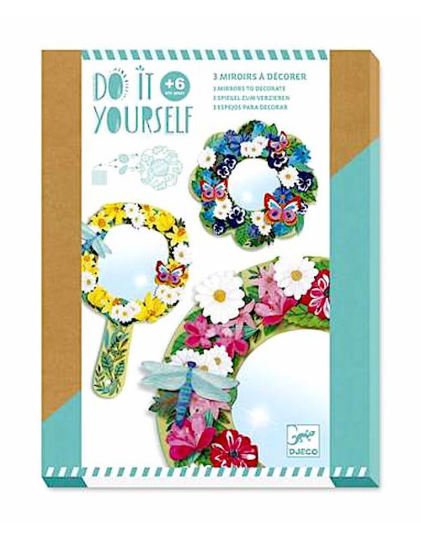 Djeco Pretty Flower DIY Mirrors Craft Kit