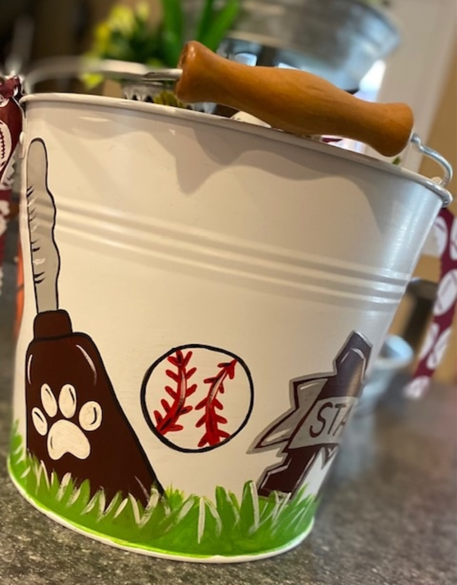 Painted Easter Pail