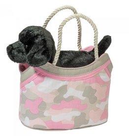 Douglas Toys Pink Camo Sak w/Black Lab