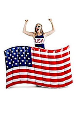 Big Mouth American Flag Pool Float