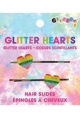 Iscream Glitter Heart Hair Slides