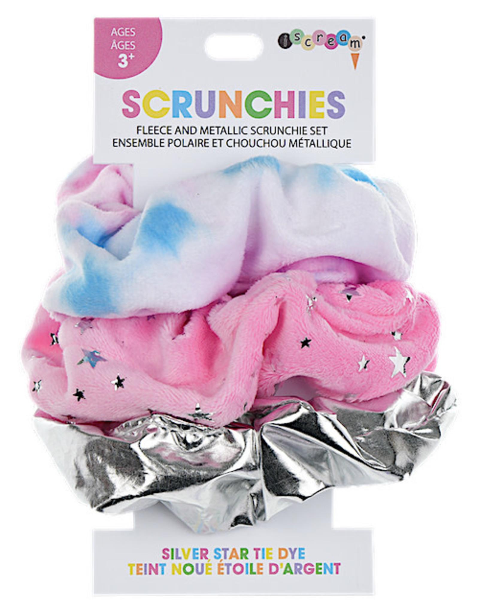 Iscream Silver Star Tie Dye Scrunchie Set