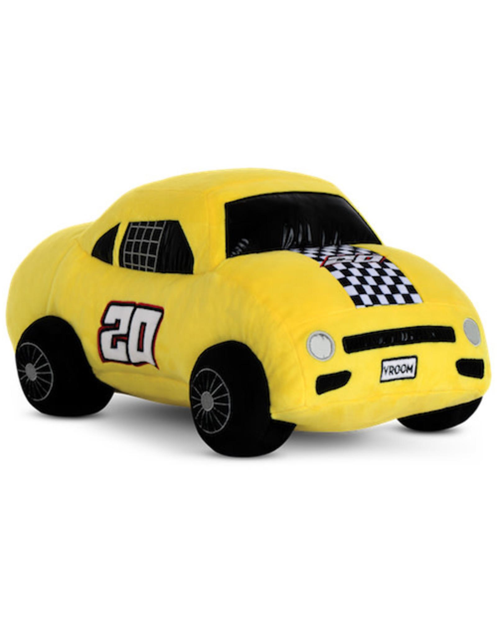 Iscream Yellow Race Car 3D Fleece Pillow