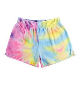 Iscream Pastel Tie Dye Plush Shorts Medium