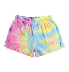 Iscream Pastel Tie Dye Plush Shorts Small
