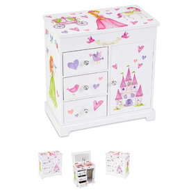 Princess Musical Jewelry Box 3 Drawers