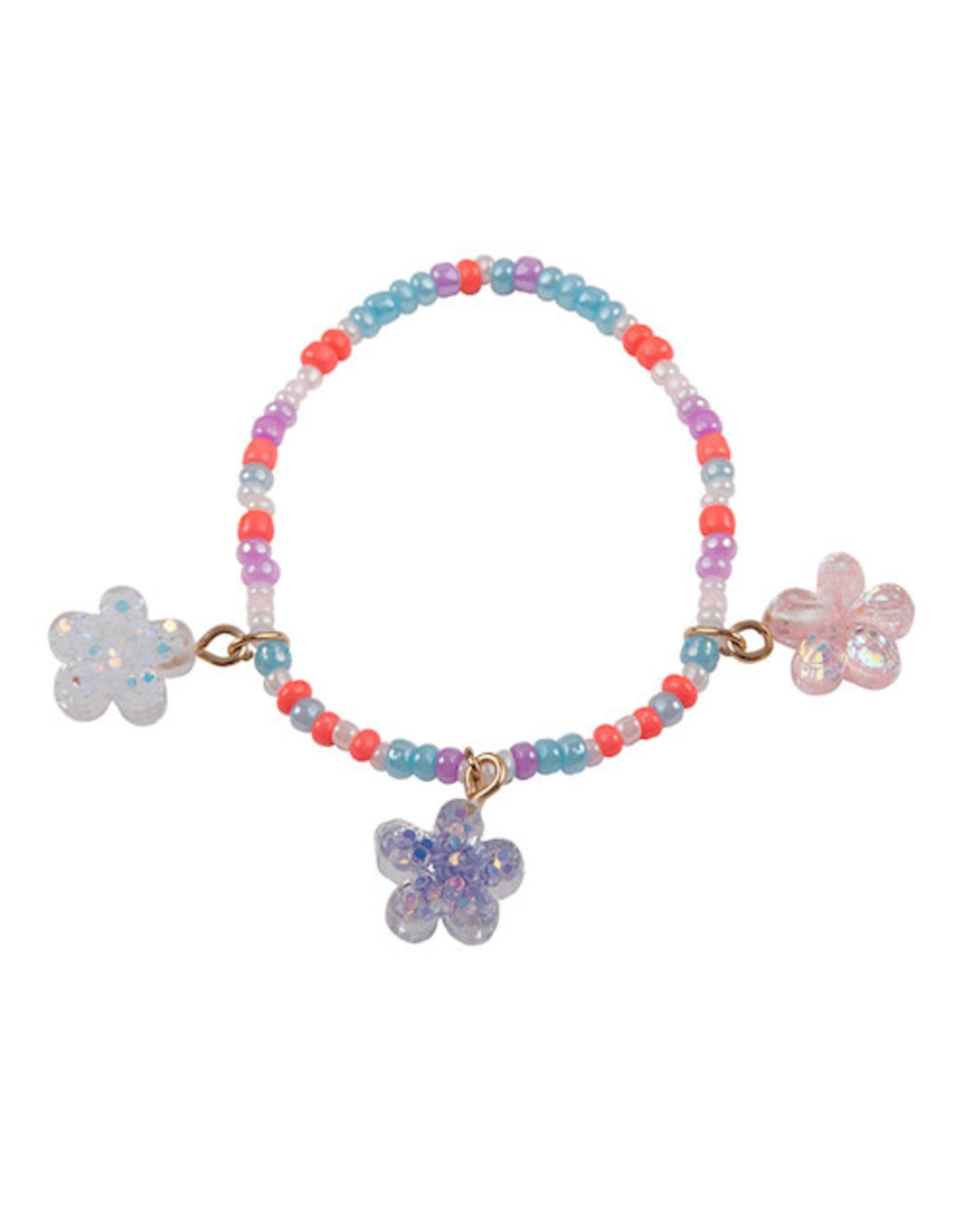 Boutique Shimmer Flower Bracelet