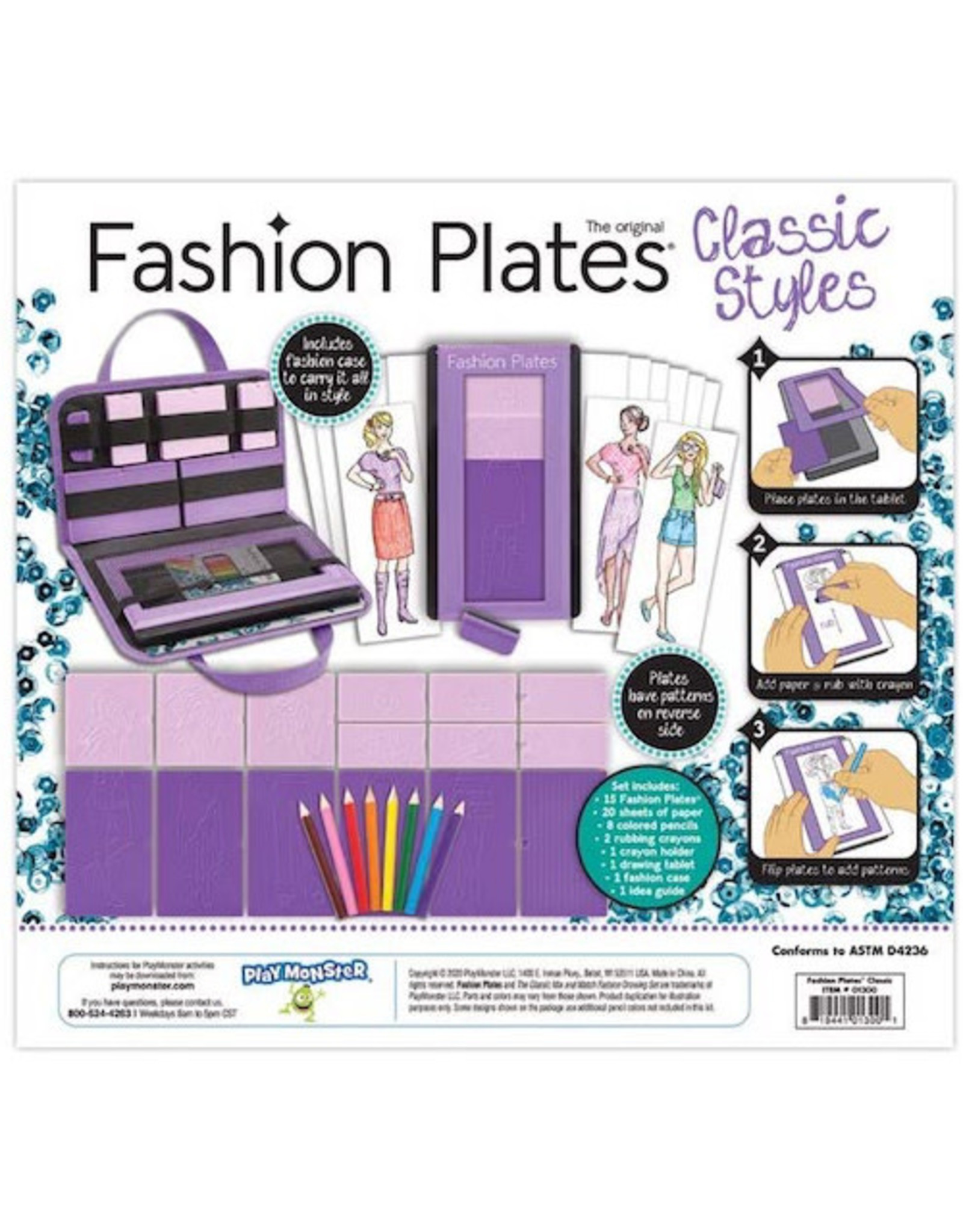 Play Monster Fashion Plates Classic Styles