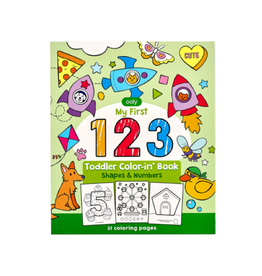 Ooly 123: Shapes & Numbers Toddler Color-In' Book