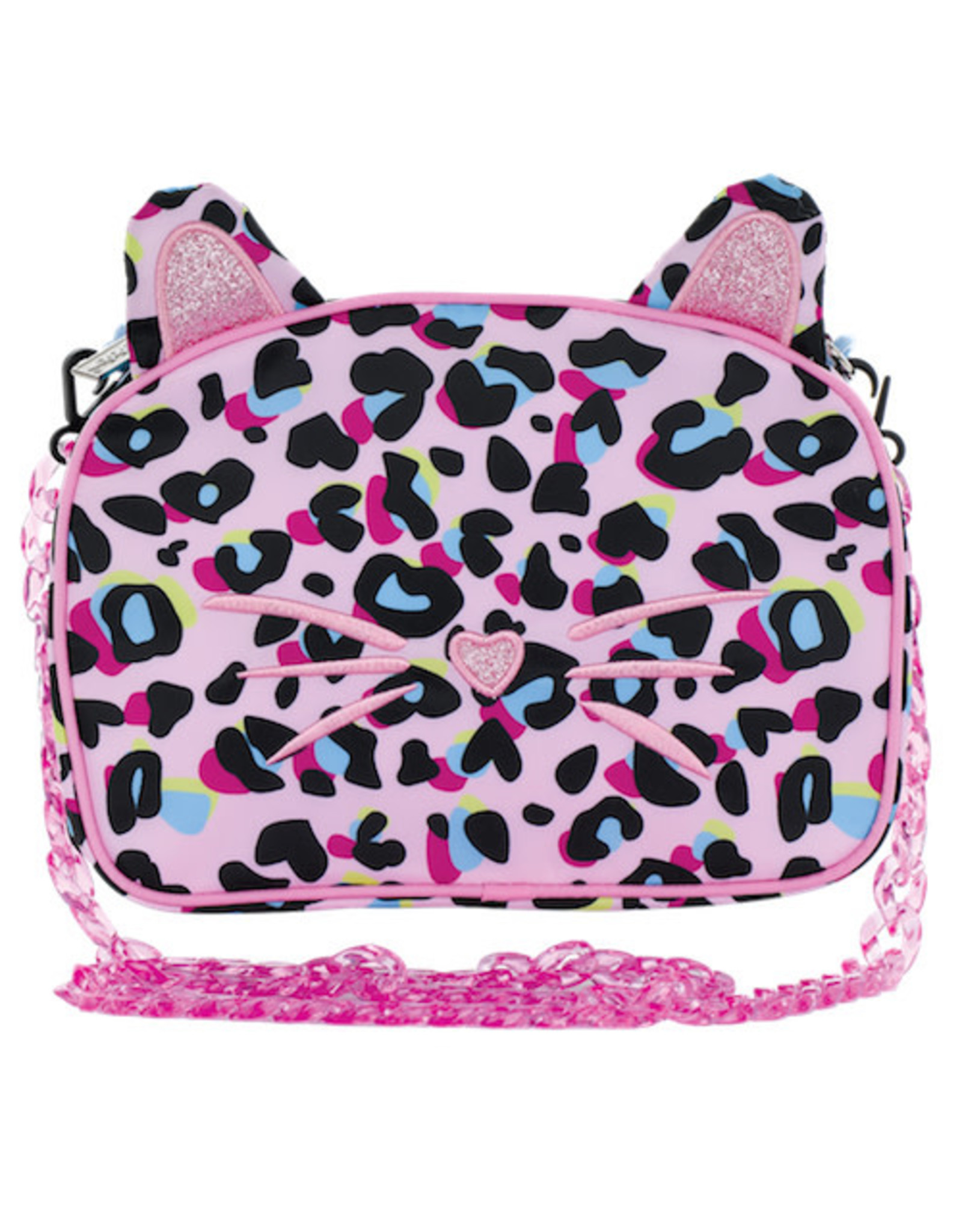 Iscream Pink Leopard Crossbody Bag