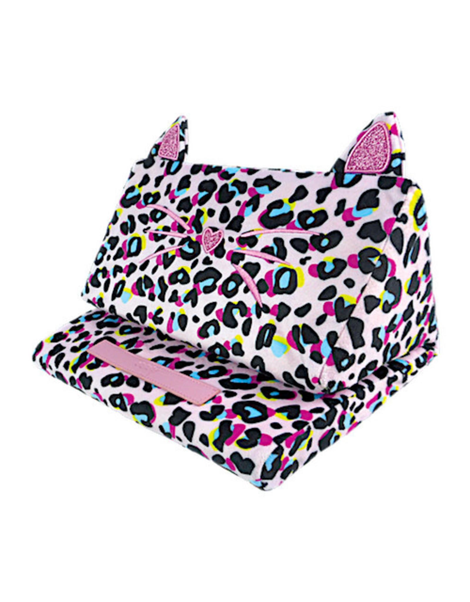 Iscream Pink Leopard Tablet Pillow