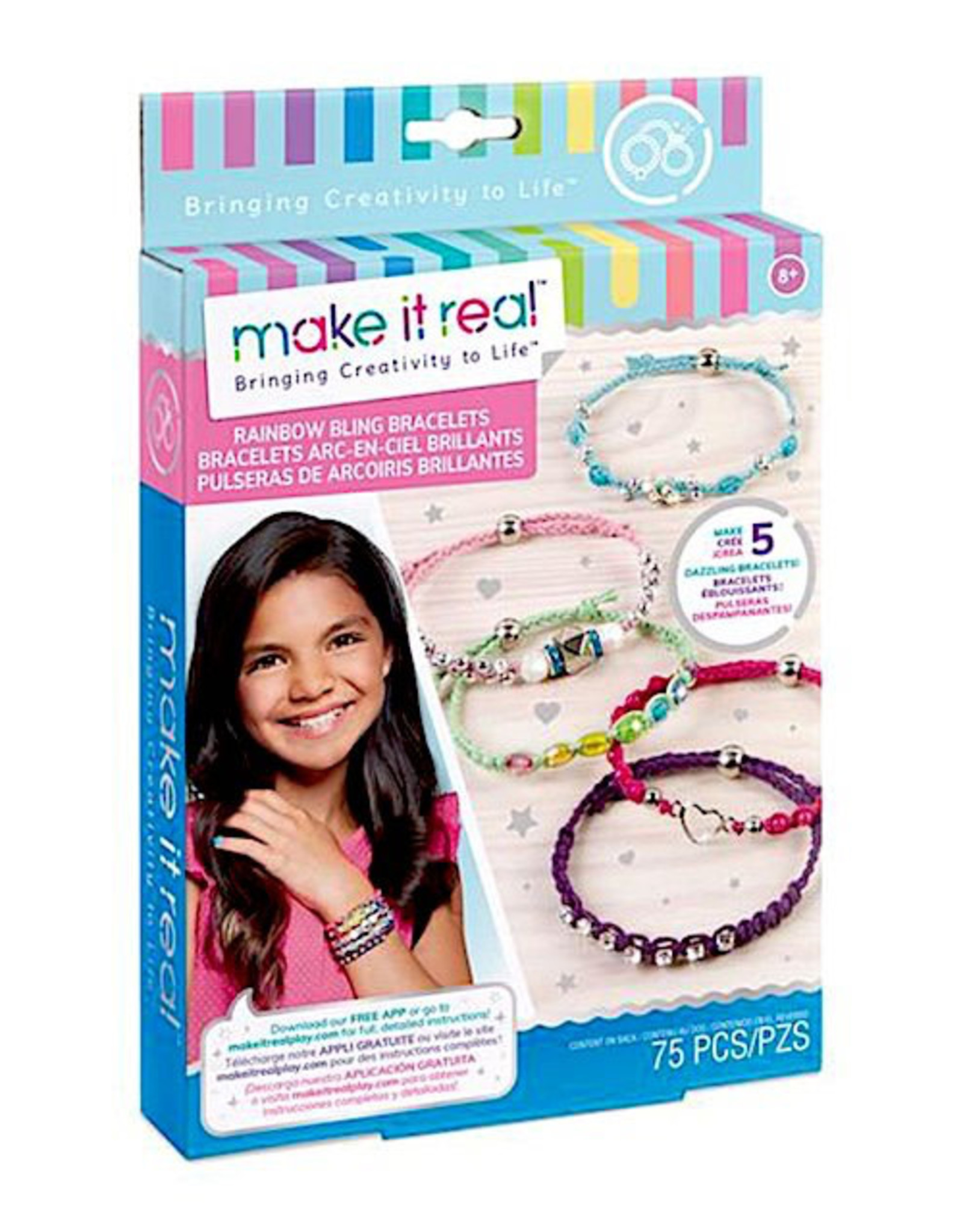 Make It Real Rainbow Bling Bracelets