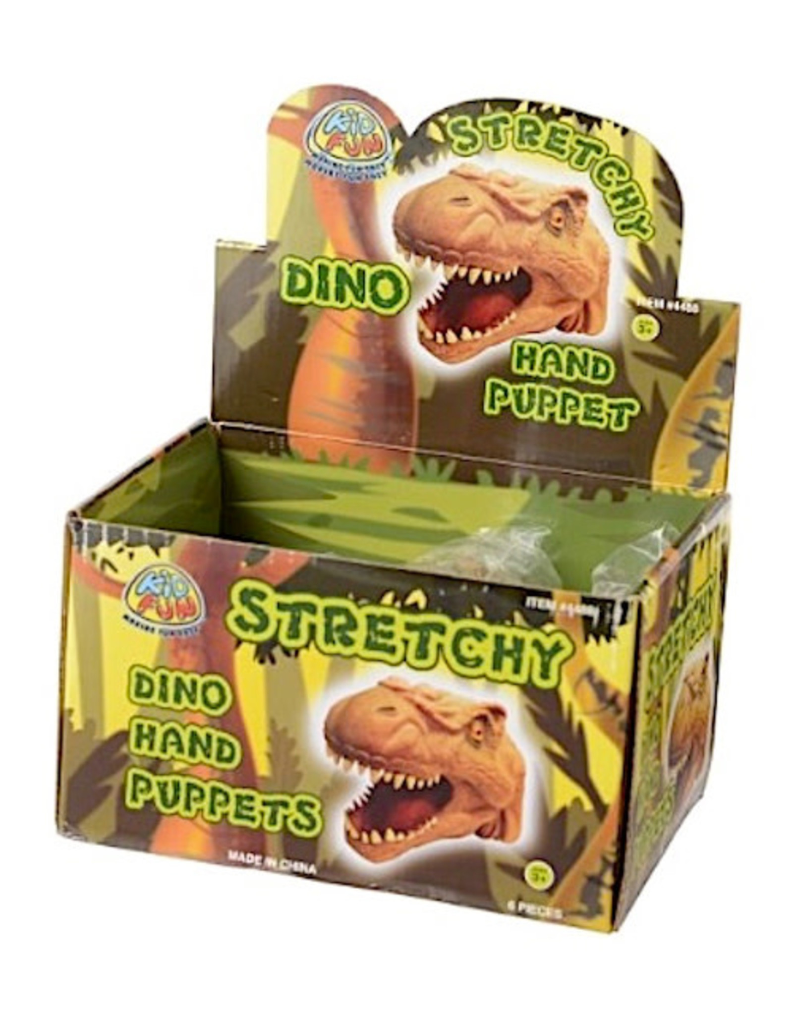 US Toy Co Stretchy Dino Hand Puppets