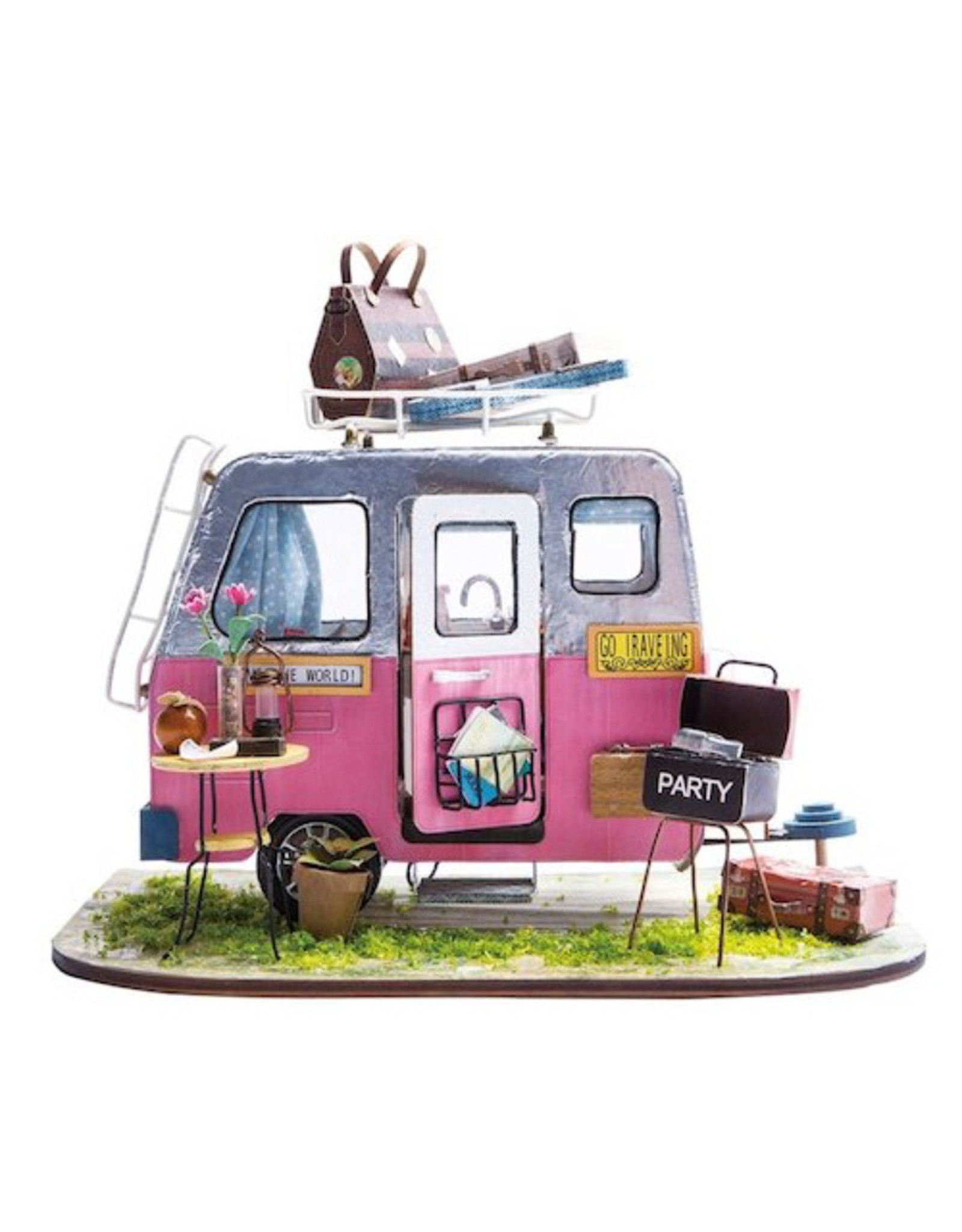 Hands Craft DIY Miniature House Kit: Happy Camper