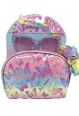 Hot Focus Fancy Girl Sunglasses w/Wristlet & Scrunchie, Tie Dye Butterfly