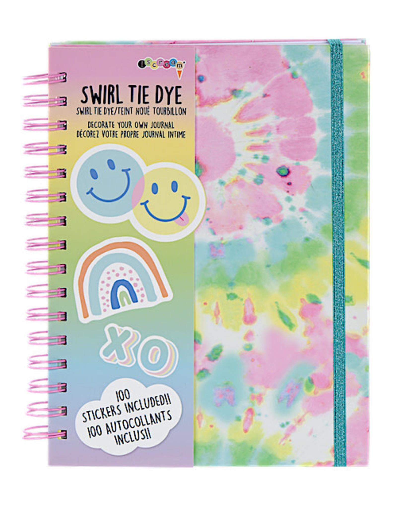 Iscream Swirl Tie Dye Journal W/Stickers