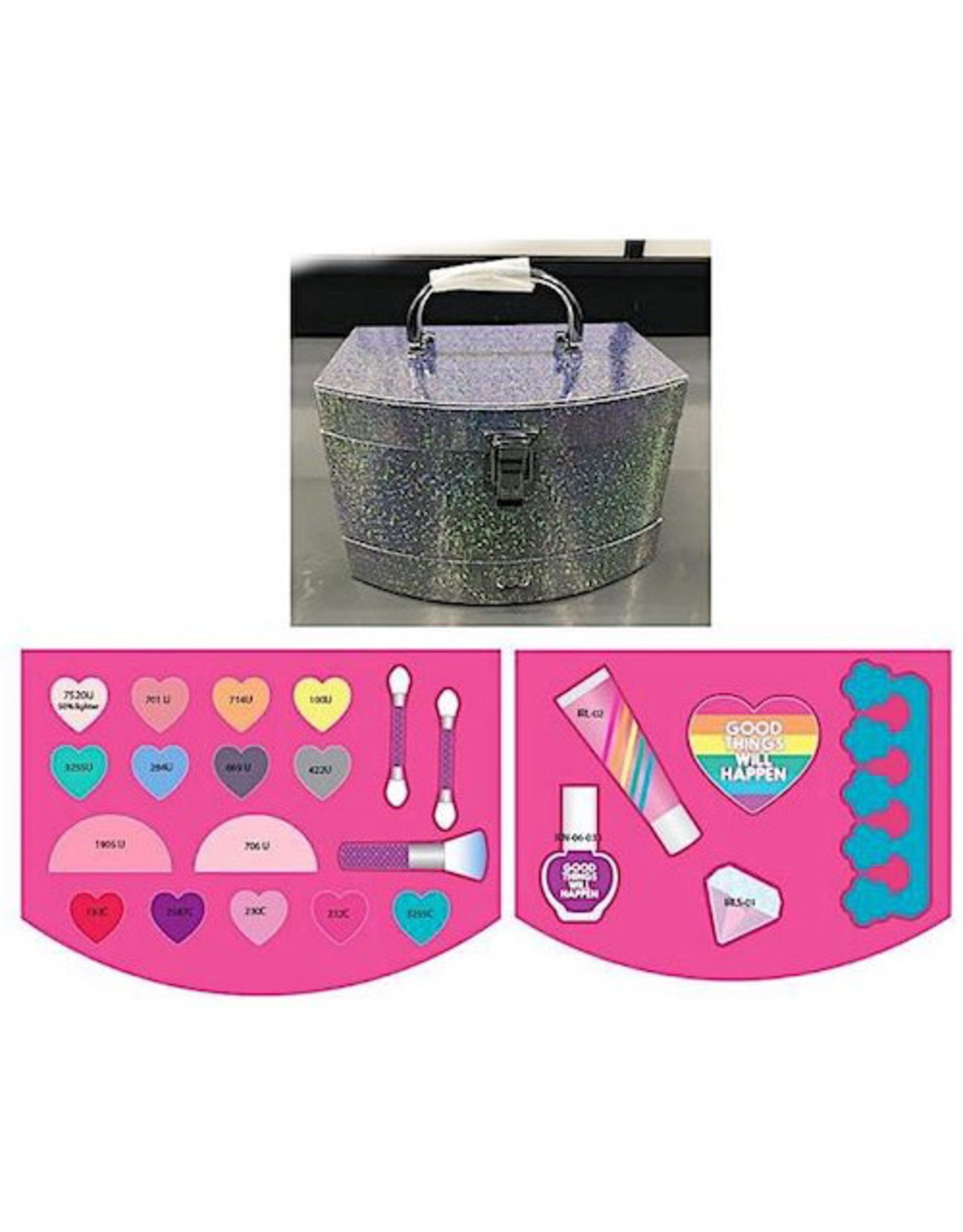 Make It Real Lets Sparkle Cosmetic Case