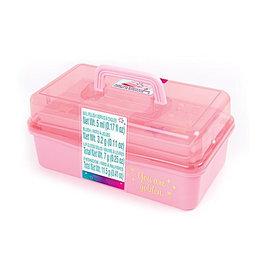 Make It Real Pink and Gold Hard Case Makeup Storage Set