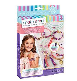 Make It Real Gold Link Suede Bracelets