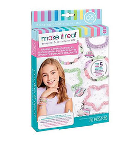 Make It Real Sparkly Spirals Jewelry