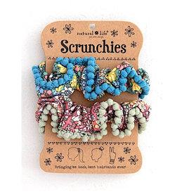 Natural Life Pom Pom Scrunchie