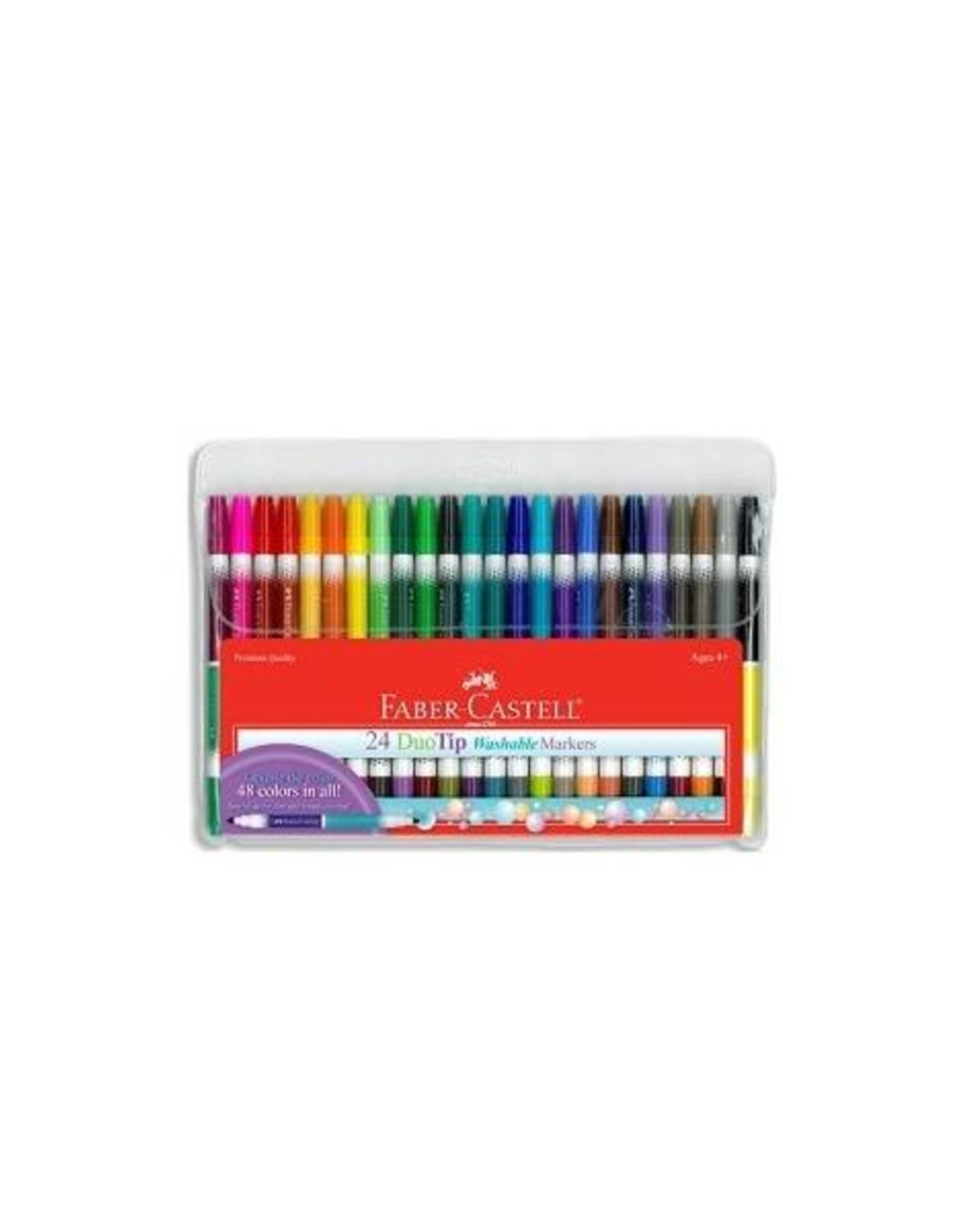Faber Castell 24ct DuoTip Washable Markers