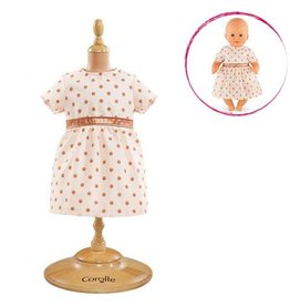 "Corolle 12"" Pink Gold Dress"