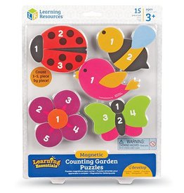 Learning Resources Magnetic Counting Puzzles- Garden