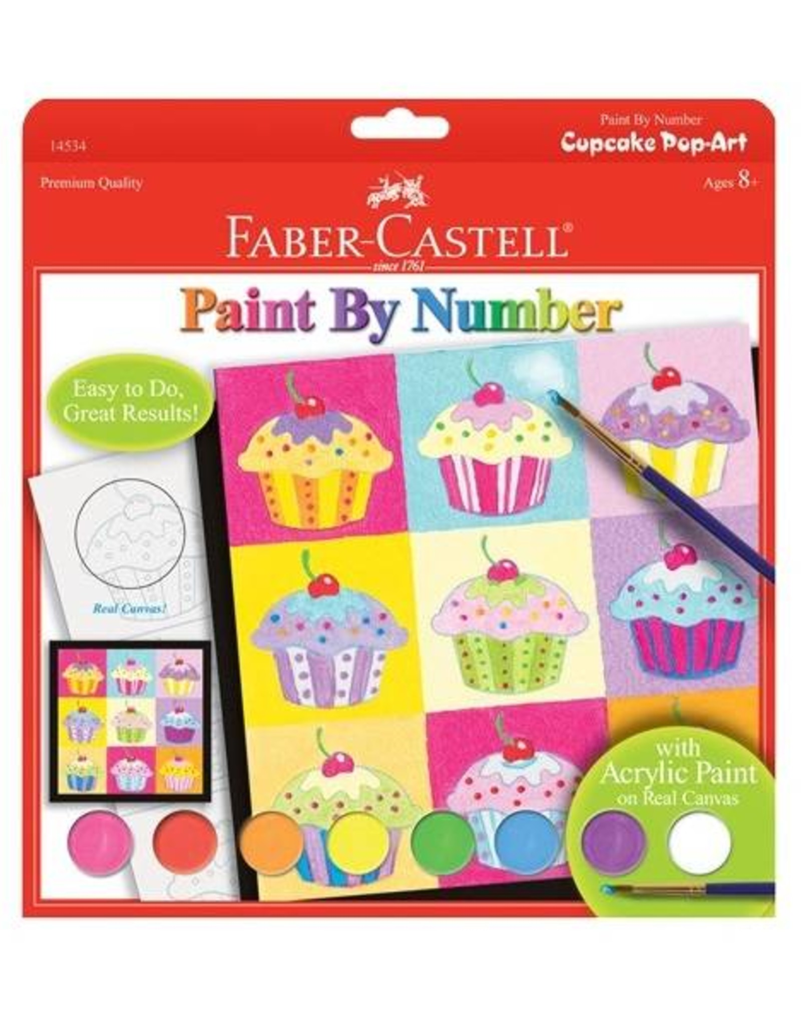 Faber Castell Paint By Number Cupcake Pop-Art