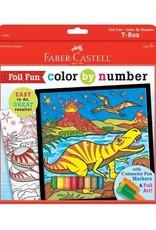 Faber Castell Color By Number T-Rex Foil Fun