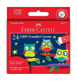 Faber Castell 24ct Grip Erasable Crayons