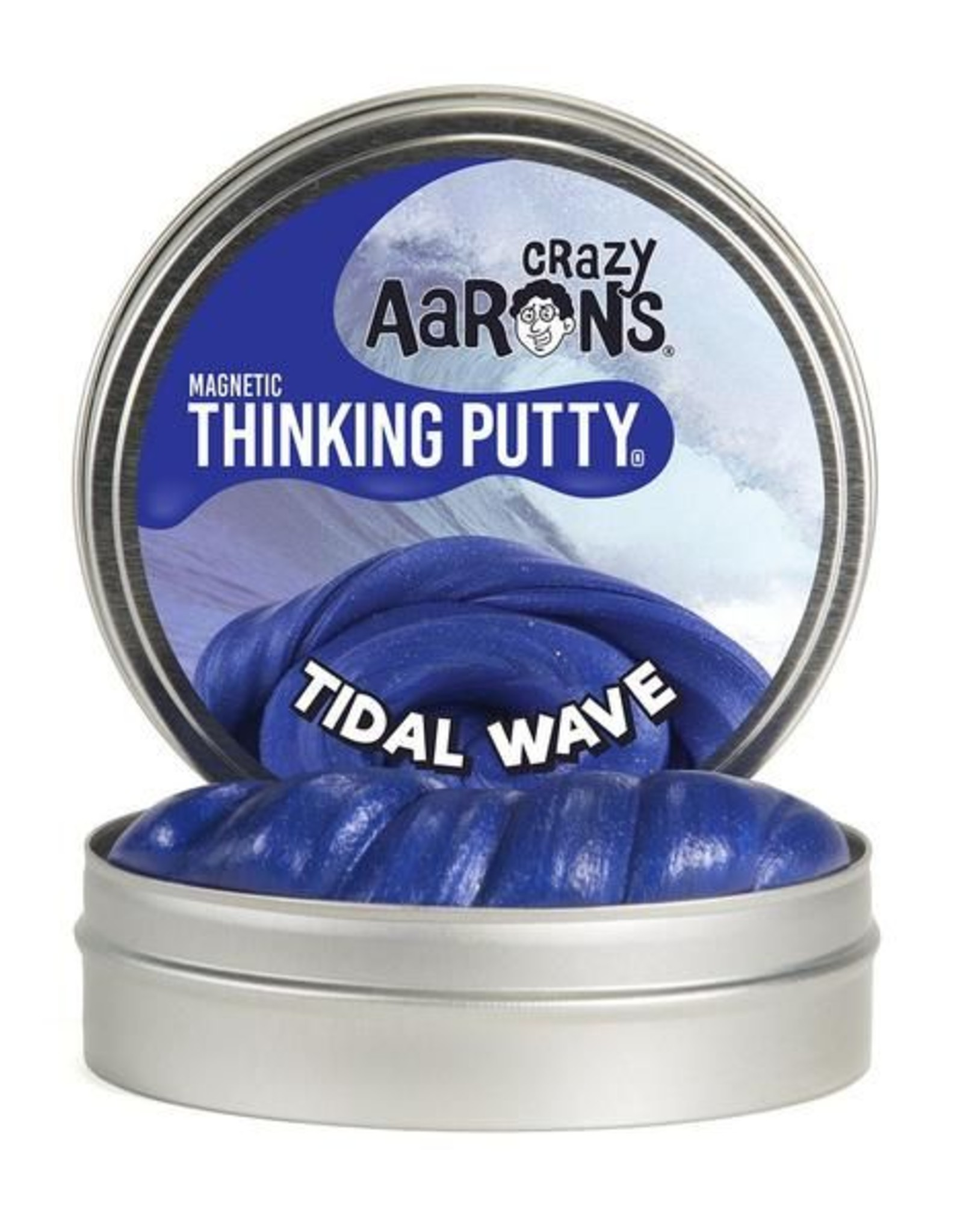 """Crazy Aaron's Putty Tidal Wave Super Magnetic 4"""" Tin plus magnet"""