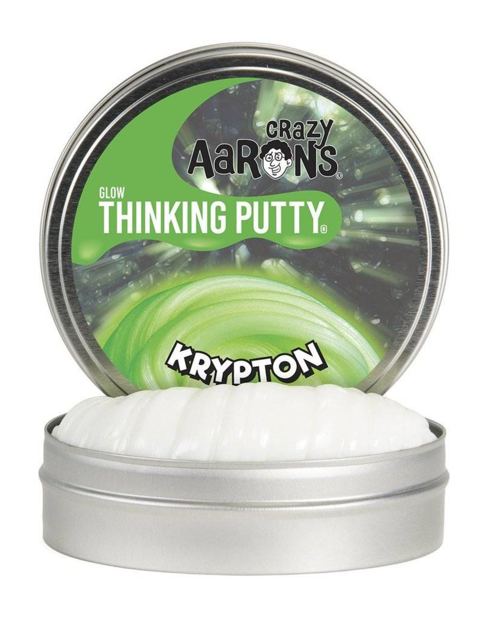 "Crazy Aaron's Putty Krypton Glow in the Dark 4"" Tin"
