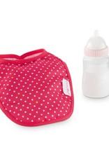 Corolle Cherry Feeding Bottle & Bib