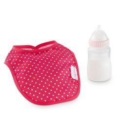 Corolle Cherry Feeding Bottle & Bib