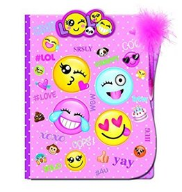 Hot Focus Clipboard Folder Set with Feather Pen, Emoji