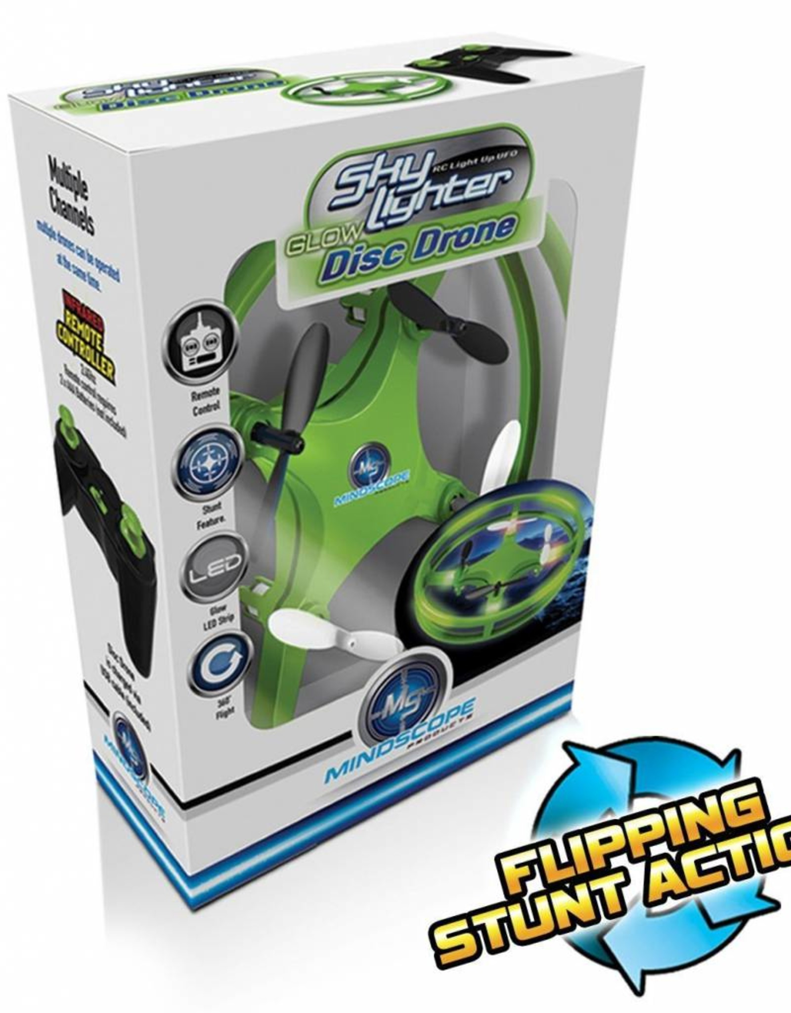 Mindscope Sky Lighter Disc Drone-Green