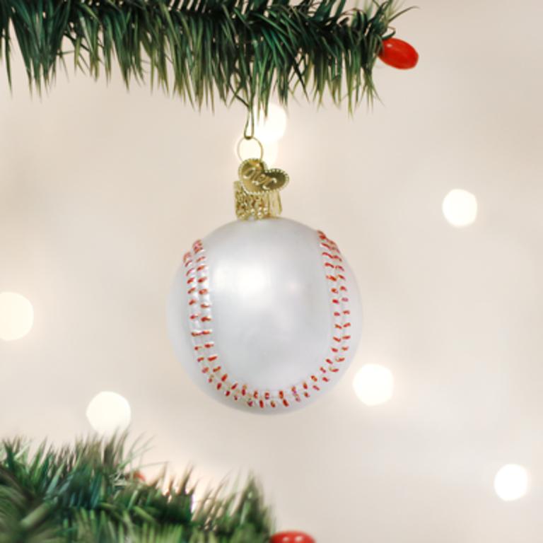 Baseball verre babioles de Noël