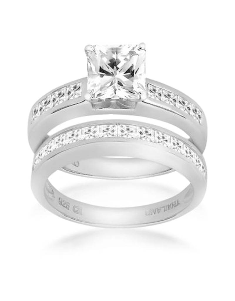 CZ Bridal Set Ring