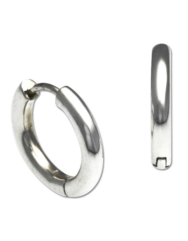 ZINA Round Huggie Earrings 16mm