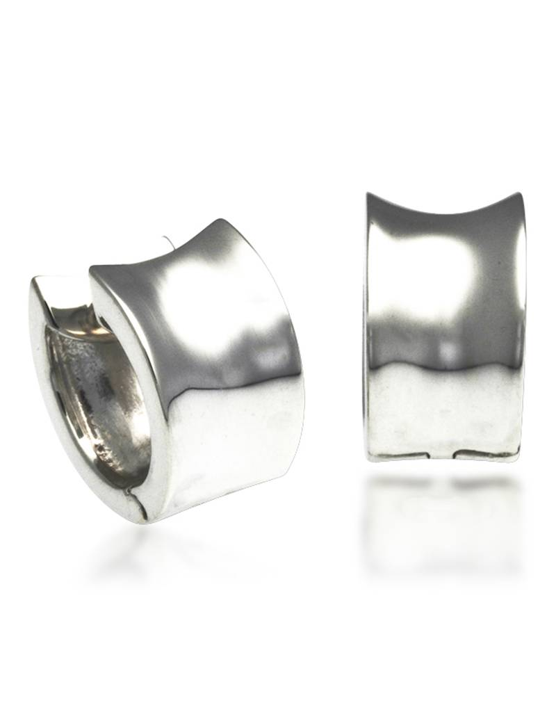 ZINA Concave Huggie Earrings 15mm