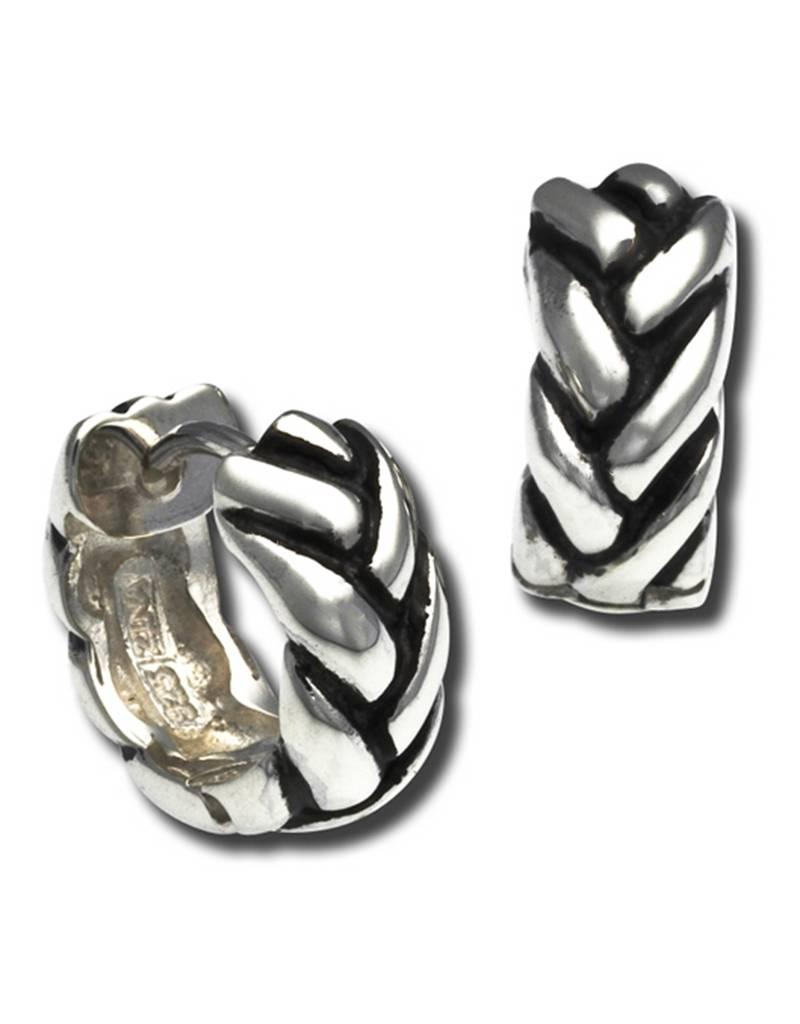 ZINA Braided Huggie Earrings 14mm