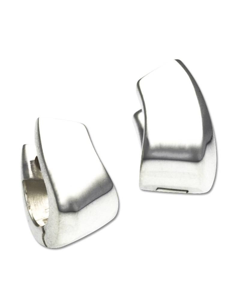 ZINA Curved Huggie Earrings 13mm