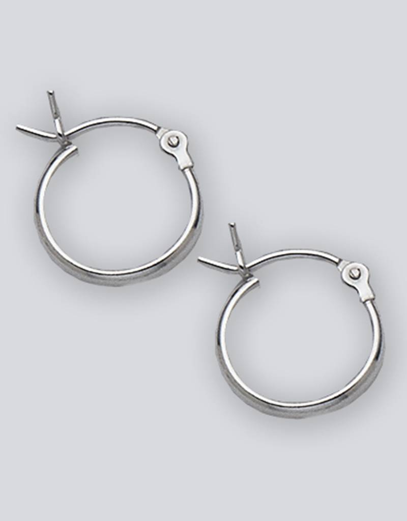 12mm 1/2 Round Plain Hoop Earrings
