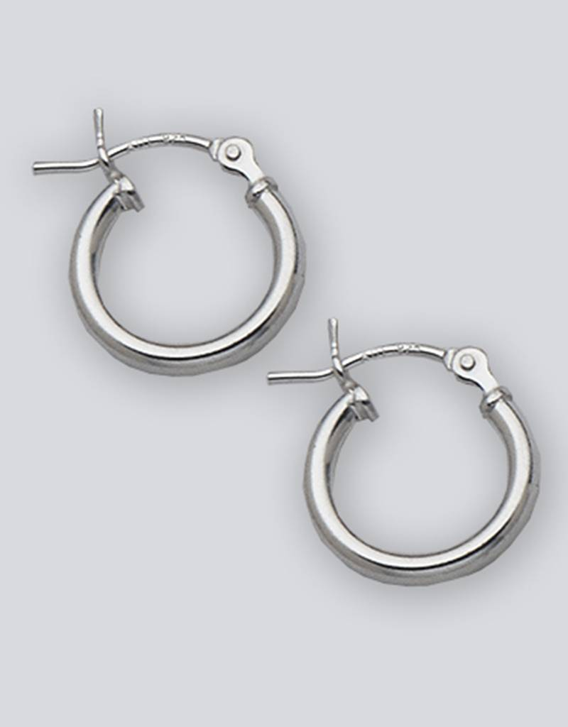 12mm Round Plain Hoop Earrings