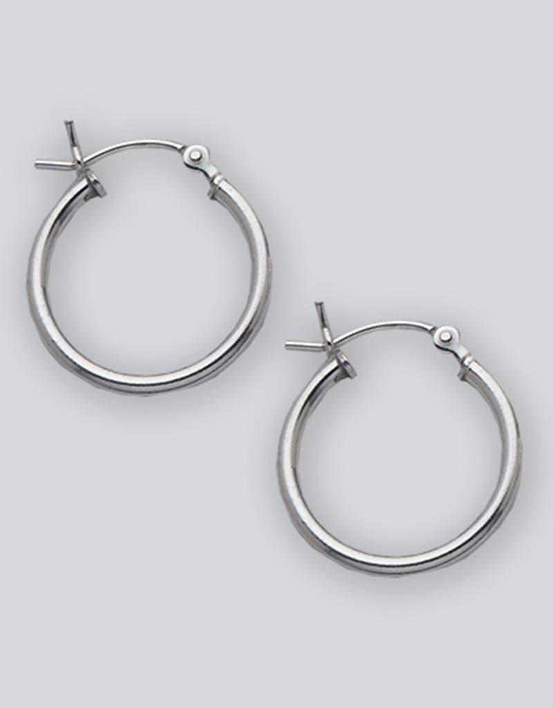 18mm Round Plain Hoop Earrings